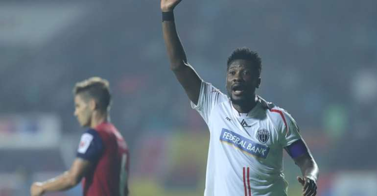 Asamoah Gyan Assist In NorthEast United FC Stalemate With Jamshedpur