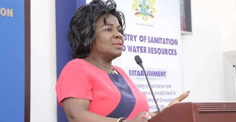 Minister for Sanitation and Water Resources, Hon. Cecilia Abena Dapaah