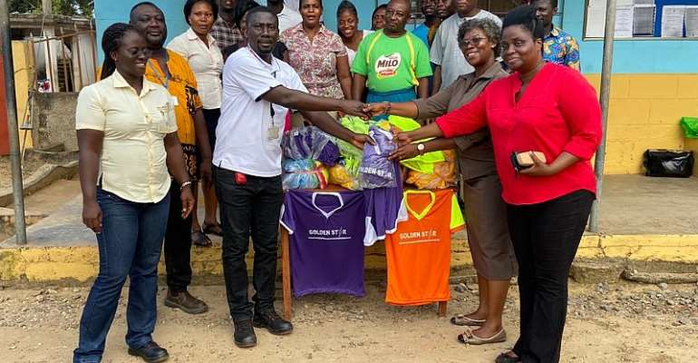 Bogoso: Education Directorate Gets Sets Of Jerseys For Circuit Games.