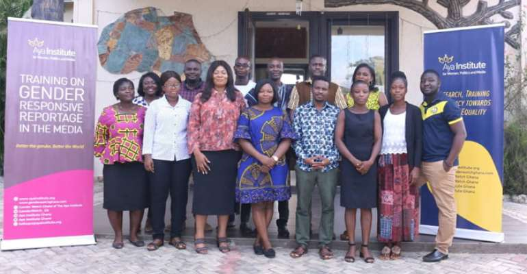 A group picture of the participants with Dr. Agyepong (third left)