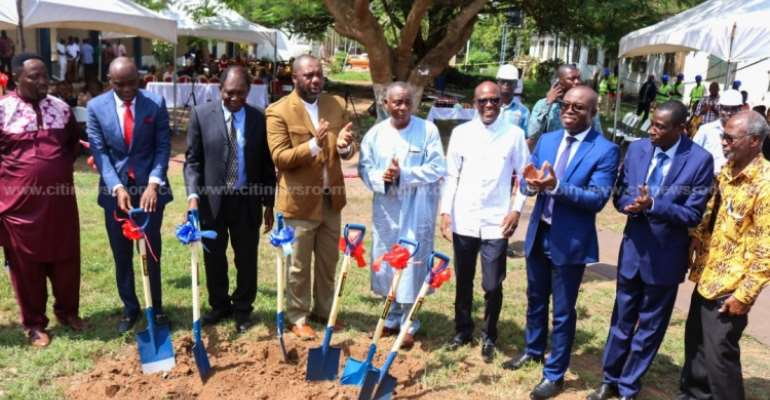 Education Minister Breaks Ground For Twin Tower, Hostels At UPSA