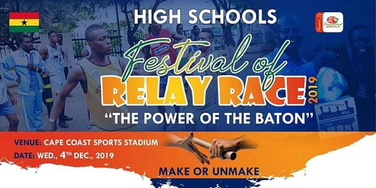 Cape Coast Sports Stadium Hosts Senior High Schools Festival Of Relay Race 2019 On Dec. 4