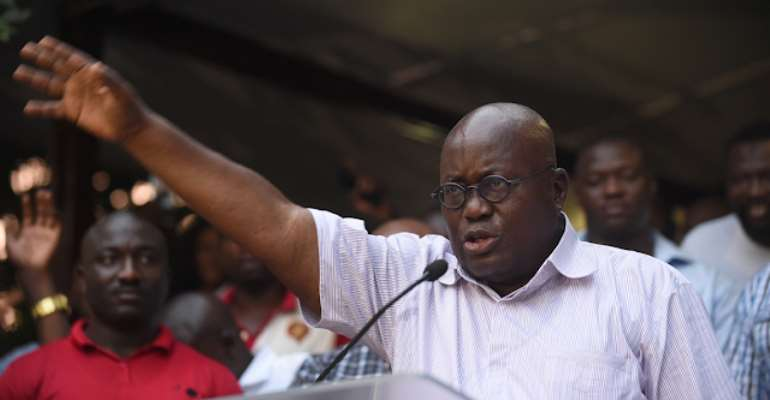 """""""There are no more excuses to end poverty and corruption,"""" says Akufo Addo, but what do we see in Ghana today? Photo credit: Ghana media"""
