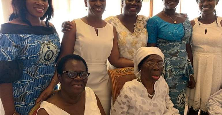 Police Ladies Celebrate Mrs. Rosemond Nkansah, First Police Woman On Her 90th Birthday
