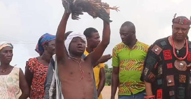 South Tongu traditional leaders perform rituals for peaceful election 2020
