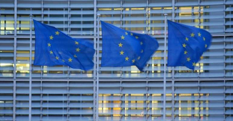 Three EU flags: EU decided to establish a Public Prosecutor's Office