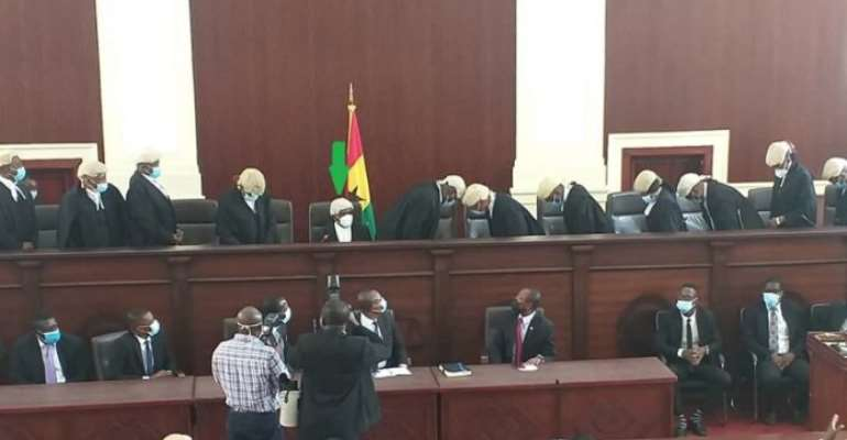 Justice Gbadegbe shed tears in Court as he retires today
