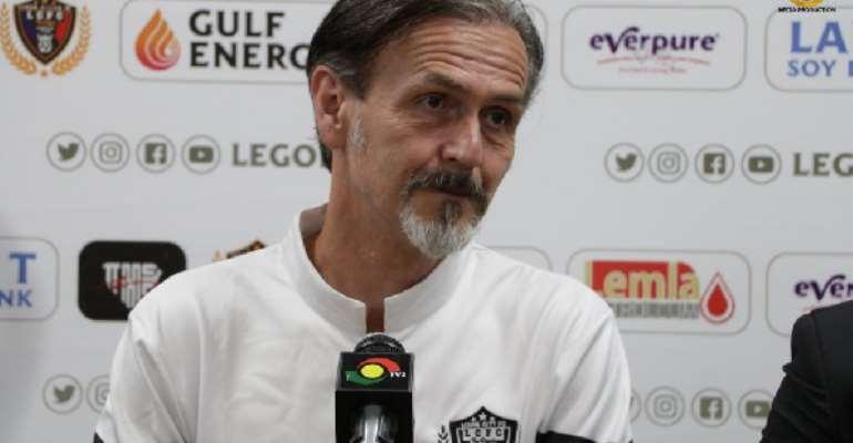 Legon Cities FC head coach Goran Barjaktarevic