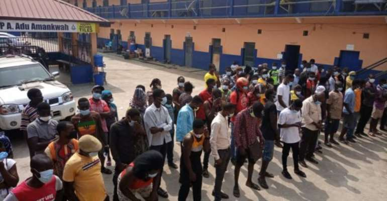 Covid19: 85 people arrested for not wearing nose masks in Koforidua