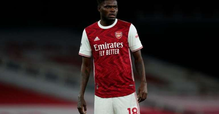 Thomas Partey in action for Arsenal as Gunners crash out of English FA Cup