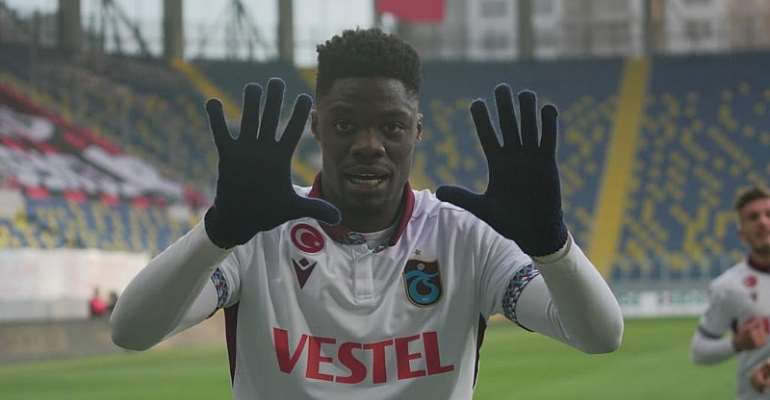 Ghana forward Caleb Ekuban star with a goal and assist to inspire Trabzonspor to beat Genclerbirligi