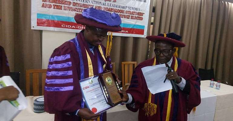 CEO Of Glomef Conferred With The Professional Fellowship Award