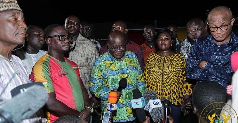 Prez. Akufo-Addo Inspects New Madina Astro Turf