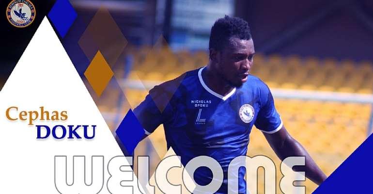 OFFICIAL: Berekum Chelsea Sign Liberty Striker Cephas Doku