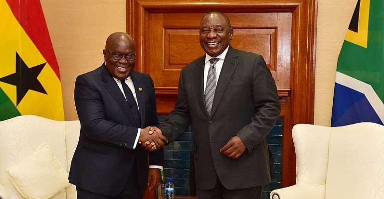 President Nana Akufo-Addo and President of South Africa Cyril Ramaphosa