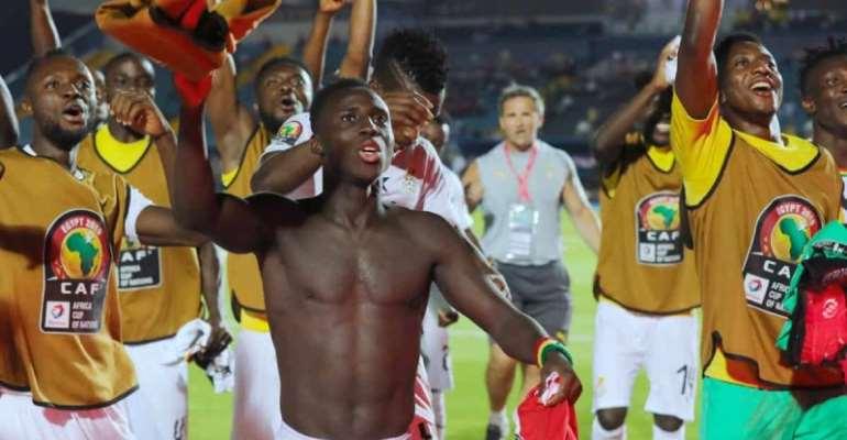 Black Stars players celebrate