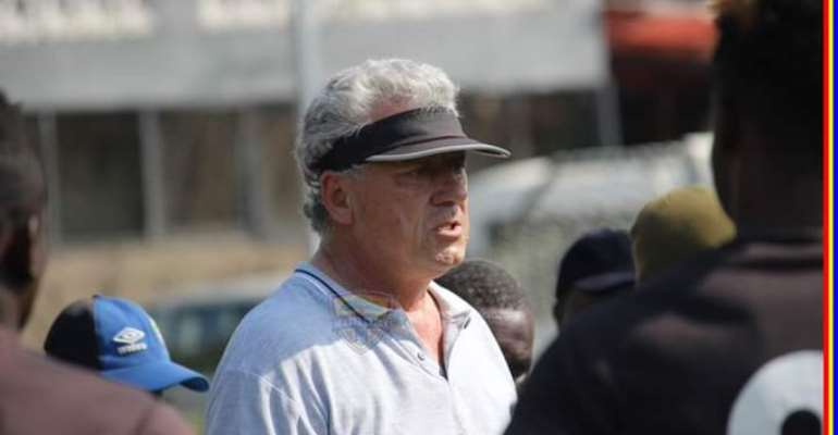 Kosta Papic at Hearts of Oak training grounds