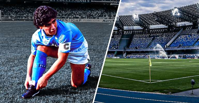 The Stadio San Paolo in Naples has been renamed after Diego Maradona