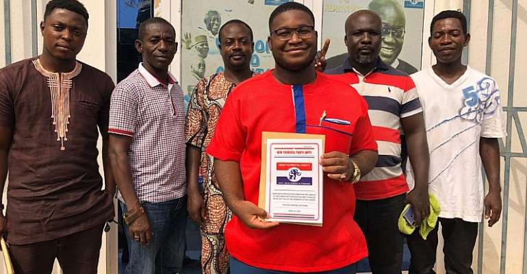 Young, Highly-Spirited Alfred Kumi Picks Forms To Contest Adenta NPP Primaries