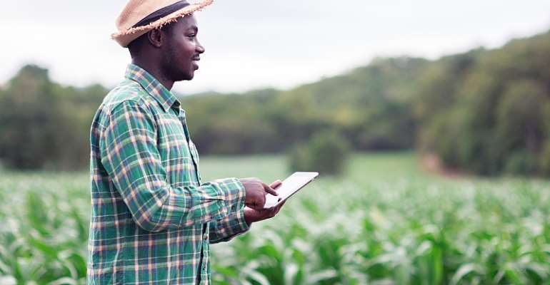 The digital economy includes small holder farmers being able to access finance on a mobile device without having to go to a bank. - Source: Shutterstock