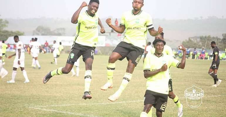 Dreams FC players celebrate