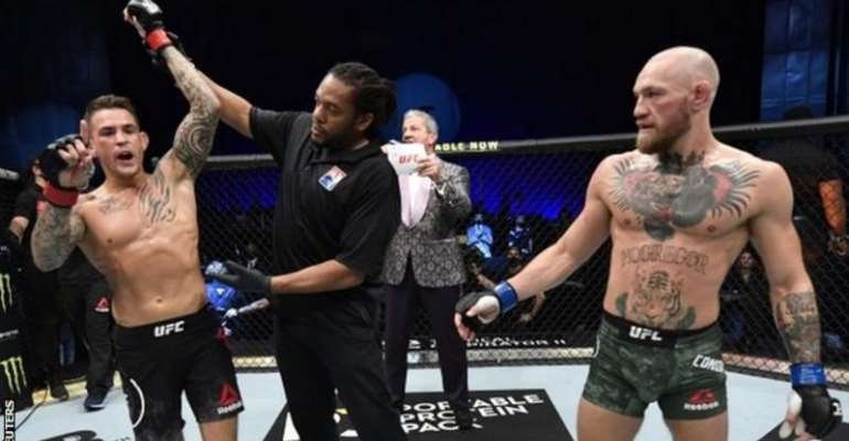 Dustin Poirier (left) has had nine mixed martial arts fights since November 2016, while Conor McGregor has had just three