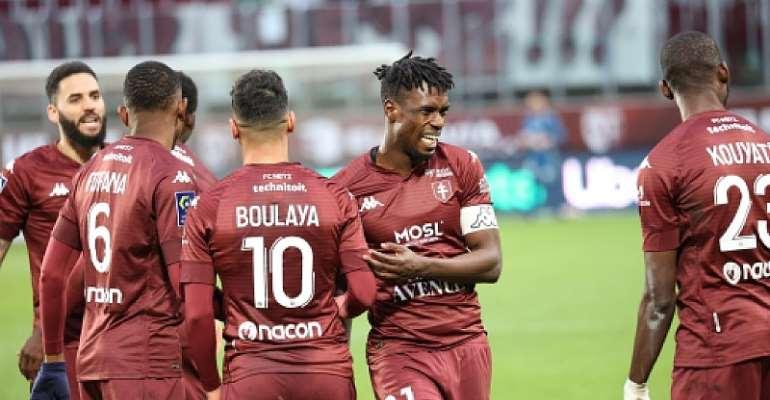 Ghana defender John Boye assists goal for FC Metz in 2-0 win against FC Nantes