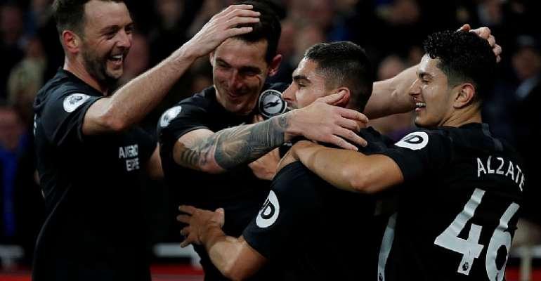 PL: Brighton Stun Arsenal To Hand Ljungberg First Home Loss