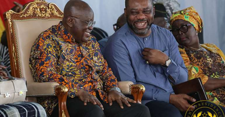 President Nana Akufo-Addo (left) in a chat with Matthew Opoku Prempeh
