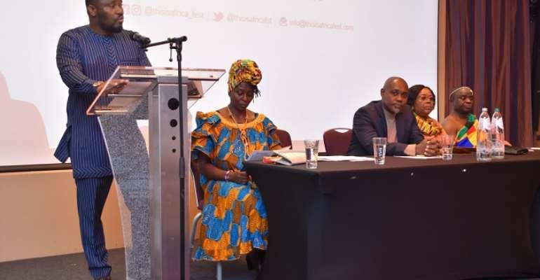 Nana Yaw Osei Darkwa speaking at the launch