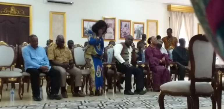 The delegation was led by the party's National Chairman Samuel Ofosu Ampofo