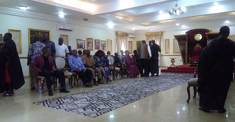 'Go and sin no more' – Okyenhene forgives Kwame Zu, lifts ban on NDC