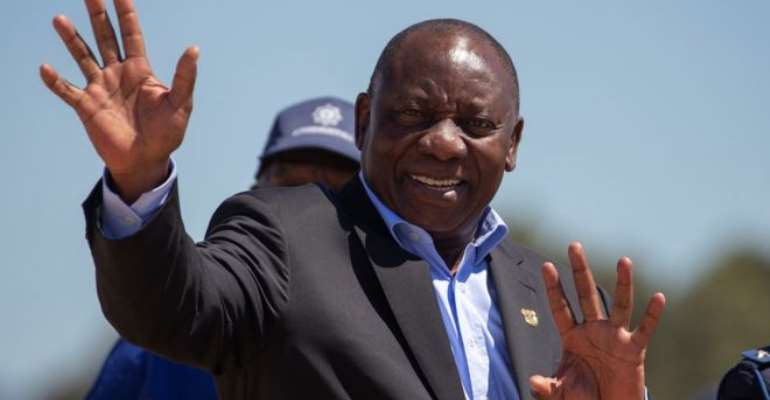 South Africa President Cyril Ramaphosa in Ghana for state visit
