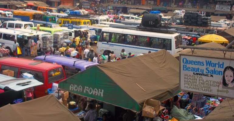 Travelling station at Tudu, Accra, photo credit: Ghana media