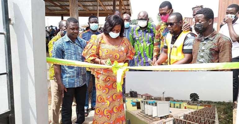 Ga East MCE commissions ultra-modern biogas toilet facility at Kwabenya-Atomic