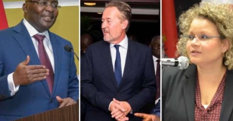 Bawumia receives two Ambassadors