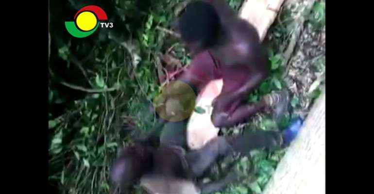 [Video] Two Illegal Chain Saw Operators Made To Slap Each Other After Arrest