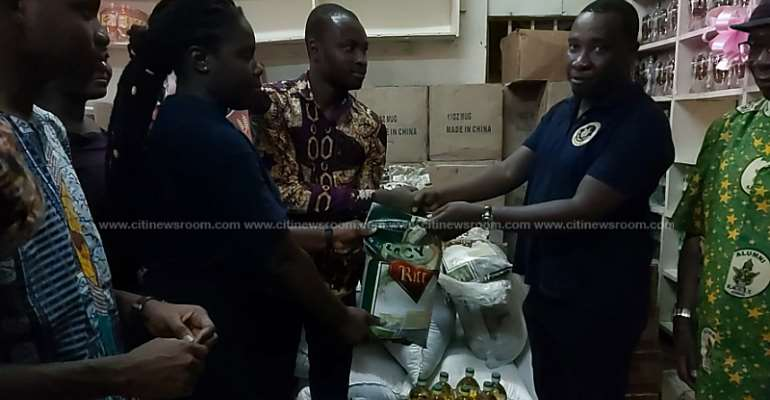 KNUST Alumni Donates Local Rice To School