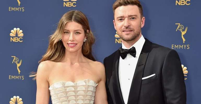 Justin Timberlake and wife