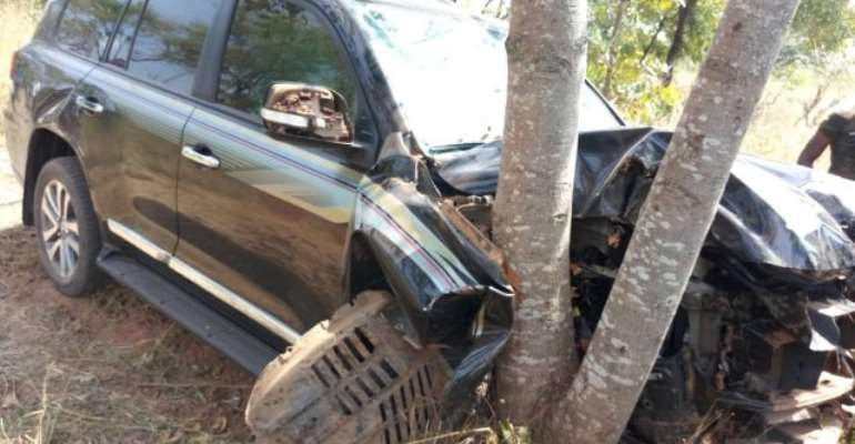 This is the second accident the Deputy Chief of Staff has been met with within two months, on the same Damongo-Busunu road.