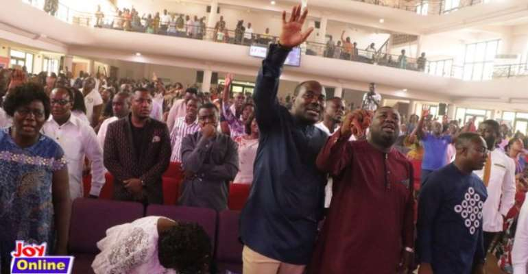 Knees came down, hands went up at Joy Corporate Worship