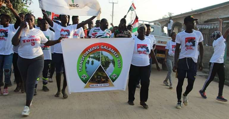 Transforming Galamsay joins NDC health walk to wrap up campaign in Ayensuano