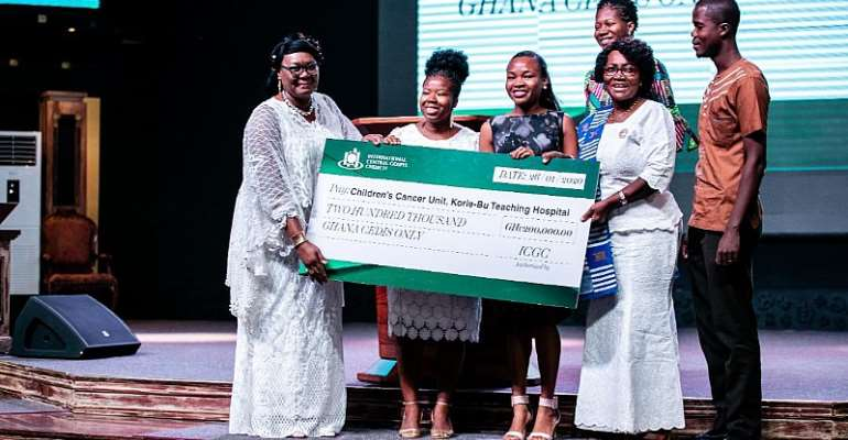 ICGC Christ Temple Donates ¢200,000 To Korle-Bu Children's Cancer Unit
