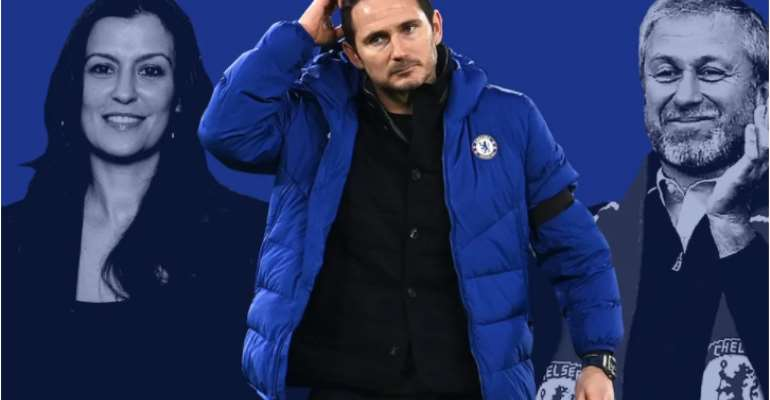 Frank Lampard was sacked by Chelsea on Monday  CREDIT: Custom pic