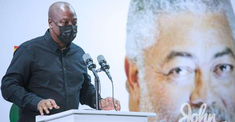 Mahama urges NDC members to honour Rawlings by ensuring unity