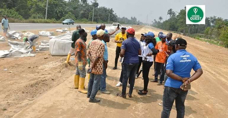 The East West Road Construction:  Citizens Quest gives update