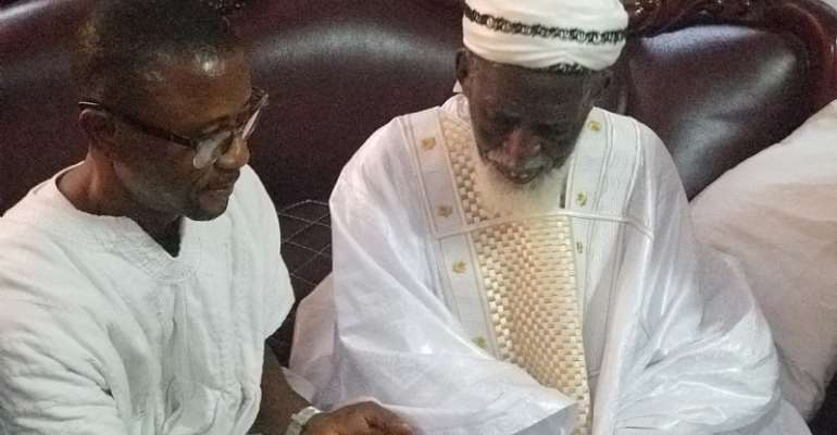 Bandex and family donate to Chief Imam towards Maulid commemoration (Video)