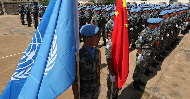 Chinese soldiers and police serve in eight UN  peace missions in Africa. - Source: Flickr