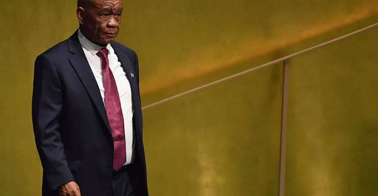 Tom Thabane has resigned as the Prime Minister of Lesotho amid a scandal over his wife's murder. - Source: Getty Images/Angela Weiss