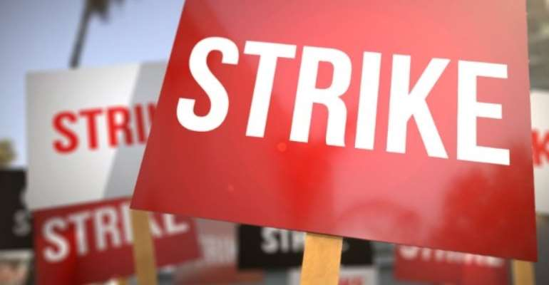 Senior staff members of UHAS join nationwide strike